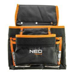 Kieszeń na narzędzia NEO TOOLS 84-334 8 przegród kieszen wielofunkcyjna do pracy na pas worek kieszeniowy bhp sklep system internetowy czarna pomaranczowa
