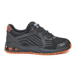 Buty robocze BASE B1009 K-Twist O1 bez podnoska obuwie zawodowe bhp sklep system internetowy podeszwa antypoślizgowa dla pracowników premium przewiewne sportowe adidasy amortyzacja wygodne czarne pomarańczowe