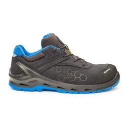 Buty robocze BASE B1210 i-Robox do pracy ochronne obuwie bezpieczne bhp półbuty sklep system internetowy dla pracowników premium wytrzymałe wygodne izolowane od zimna z podnoskiem noskiem bez metalu szare niebieskie