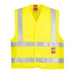 Kamizelka ostrzegawcza trudnopalna PORTWEST FR75 ochronna spawalnicza bhp sklep system internetowy odzież dla spawaczy szlifierzy narzutka na rzep wytrzymała iso 20471 żółta seledynowa