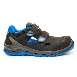 Sandały robocze BASE B1205 i-Bit do pracy ochronne obuwie bezpieczne bhp sklep system internetowy na lato na rzepy wentylowane przewiewne antypoślizgowe lekkie dla pracowników antypoślizgowe niebieskie szare