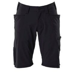 Spodenki robocze MASCOT 18149-511-09 do pracy szorty bermudy odzież bhp sklep system internetowy streczowe elastyczne elastik letnie na lato dla pracowników premium z kieszeniami wytrzymałe czarne
