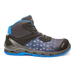 Trzewiki robocze BASE B1209 i-Robox Blue Top trzewiki bezpieczne obuwie ochronne bhp sklep system internetowy podnosek z noskiem antyprzebiciowe esd dla pracowników i4 oremium lekkie wygodne niebieskie szare