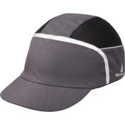 Hełm antyskalpowy DELTA PLUS KAIZIO czapka do pracy ochrona głowy lekki hełm ochronny kask budowlany czapka twarda z wkładką oddychająca bhp sklep system internetowy szara czarna odblaskowa