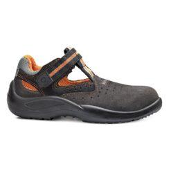 Sandały robocze BASE B0116 Summer do pracy ochronne przewiewne wygodne bezpieczne bhp sklep system internetowy na lato do pomieszczeń na rzep z podnoskiem noskiem metalowym wkładka antyprzebiciowa niemetalowa elastyczna giętka stalkapy wentylowane dla pracowników szare pomarańczowe