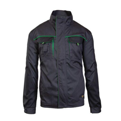 Bluza robocza Seven Kings ONYX do pracy ochronna drelichowa wygodna na suwak bhp odzież robocza dla pracowników sklep system internetowy szara czarna zielona