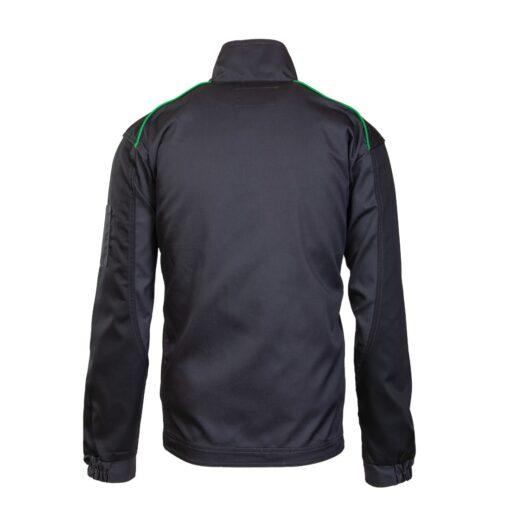 Bluza robocza Seven Kings ONYX do pracy ochronna drelichowa wygodna na suwak bhp odzież robocza dla pracowników sklep system internetowy szara czarna zielona tył