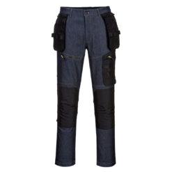 Spodnie robocze PORTWEST KX342 Stretch jeansowe dżinsy robocze odzież ochronna bhp sklep system internetowy dla pracowników wytrzymałe ze streczem stretch rozciągliwe elastyczne z kieszeniami kaburowymi workowymi granatowe czarne premium do pracy
