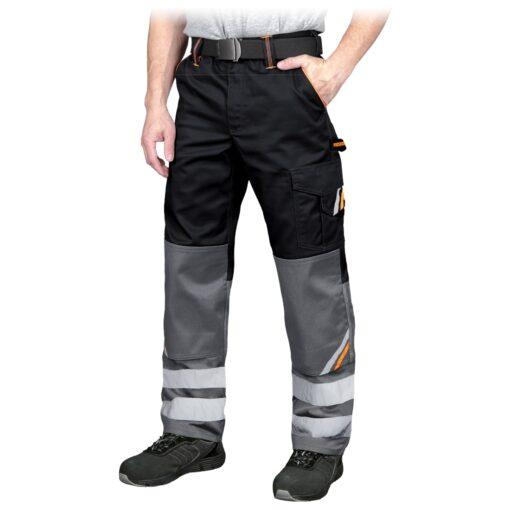 Spodnie robocze REIS PROM-T do pracy ochronne odzież robocza bhp sklep system internetowy z odblaskami dla pracowników wytrzymałe czarne szare