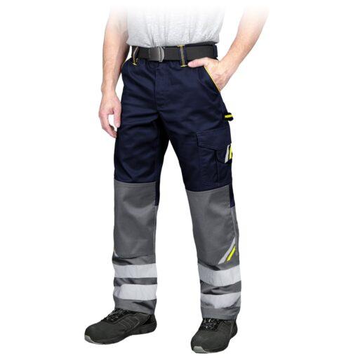 Spodnie robocze REIS PROM-T do pracy ochronne odzież robocza bhp sklep system internetowy z odblaskami dla pracowników wytrzymałe granatowe szare
