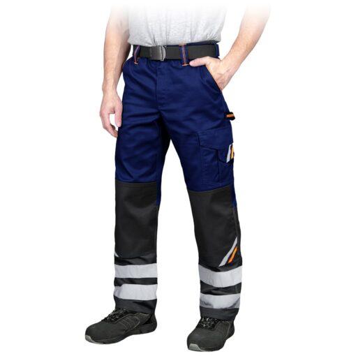 Spodnie robocze REIS PROM-T do pracy ochronne odzież robocza bhp sklep system internetowy z odblaskami dla pracowników wytrzymałe niebieskie czarne