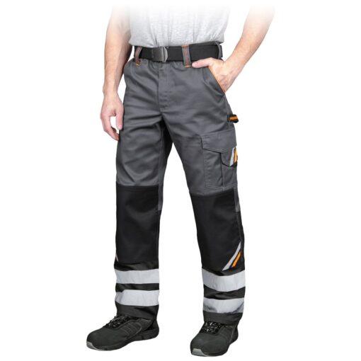 Spodnie robocze REIS PROM-T do pracy ochronne odzież robocza bhp sklep system internetowy z odblaskami dla pracowników wytrzymałe szare czarne